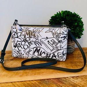 Michael Kors Graffiti Double-Zip Crossbody